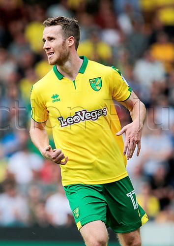 August 13th 2017, Carrow Road, Norwich, Norfolk, England;  EFL Championship football, Norwich versus Sunderland FC; Norwich City midfielder Marley Watkins