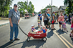 Opening day kids parade on Main Street and ribbon cutting to open the 78th Amador County Fair, Plymouth, Calif.<br /> <br /> Jim and Suzy Gullett, Grand Marshals of the parade.