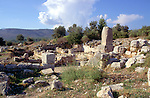Remains of buildings at the ancient Lycian city of Xanthos, Turkey
