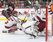 Clay Anderson (Harvard - 5), Merrick Madsen (Harvard - 31) - The Harvard University Crimson defeated the visiting Colgate University Raiders 7-4 (EN) on Saturday, February 20, 2016, at Bright-Landry Hockey Center in Boston, Massachusetts,