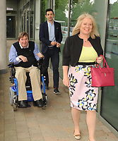 Former Kerry footballer and  Dancing with the Stars winner Aidan OÕMahony, IWA CEO Rosemary Keogh and IWA Service Coordinator Terry OÕBrien at the opening of the Irish Wheelchair Association new Community Centre at The Reeks Gateway, Killarney on Friday.  Picture: macmonagle.com