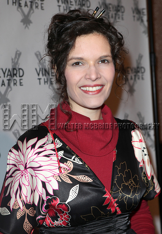 Erika Sheffer attending the Vineyard Theatre's 30th Anniversary Gala Celebration Cocktail Reception at the Edison Ballroom in New York City on 3/18/2013