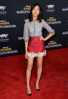 Madison Hu at the premiere for &quot;Thor: Ragnarok&quot; at the El Capitan Theatre, Los Angeles, USA 10 October  2017<br /> Picture: Paul Smith/Featureflash/SilverHub 0208 004 5359 sales@silverhubmedia.com
