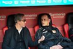03.11.2018, BayArena, Leverkusen, GER, 1. FBL,  Bayer 04 Leverkusen vs. TSV 1899 Hoffenheim,<br />  <br /> DFL regulations prohibit any use of photographs as image sequences and/or quasi-video<br /> <br /> im Bild / picture shows: <br /> Heiko Herrlich Trainer (Bayer Leverkusen), und Dirk Mesch Pressesprecher (Bayer 04 Leverkusen),  <br /> Foto &copy; nordphoto / Meuter