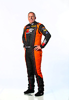 Feb 7, 2019; Pomona, CA, USA; NHRA pro stock driver Jeff Isbell poses for a portrait during NHRA Media Day at the NHRA Museum. Mandatory Credit: Mark J. Rebilas-USA TODAY Sports