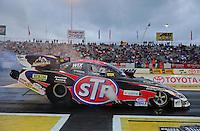 Jun. 1, 2012; Englishtown, NJ, USA: NHRA funny car driver Tony Pedregon during qualifying for the Supernationals at Raceway Park. Mandatory Credit: Mark J. Rebilas-