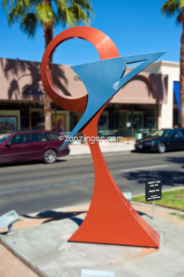 "Jennifer Corio, Dave Frei, ""Shapely Two"" El Paseo Drive; art in public places; Palm Desert; CA; Metal Art Sculpture; statue; Outdoor,"