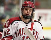 Brendan Rempel (Harvard - 12) - The Harvard University Crimson defeated the Colgate University Raiders 4-1 (EN) on Friday, February 15, 2013, at the Bright Hockey Center in Cambridge, Massachusetts.