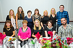 Staff from Scoil Saidhbhín Cahersiveen enjoying their Christmas Party in the Sea Lodge Waterville on Saturday night pictured front l-r; Gráine O'Shea, Margaret Browne, Aideen O'Leary, Mary Sugrue, Joe Moore, back l-r; Patricia Clifford, Megan O'Sullivan, Kitty O'Shea, Meabh Dineen, Marion Kelly, Majella County & Ger Foley.