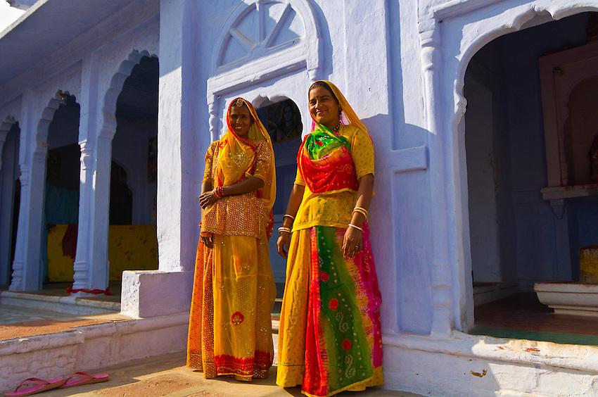 Women outside a house, Osian, Rajasthan, India