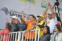 SAO PAULO, SP, 01 DE MAIO  DE 2012 -  1º DE MAIO UNIFICADO -  Paulinho da Força esteve presente no dia do trabalhador unificado que foi comemorado com ato organizado pela Força Sindical e diversos outros sindicatos na praça Campos de Bagatelle, zona norte da cidade. FOTO: LEVI BIANCO - BRAZIL PHOTO PRESS
