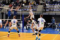 GRONINGEN - Volleybal, Lycurgus - Sliedrecht Sport, Eredivisie,  seizoen 2019-2020, 07-12-2019, smash Lycurgus speler Mitch Perinar