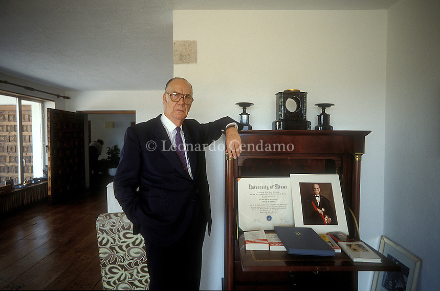 Madrid, Spain, 1991. Camilo Jos© Cela, Spanish writer. 1989 Nobel Prize in Literature. ¬© Leonardo Cendamo