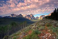 Sawtooth Mountains. Idaho United States Sawtooth National Recreation Area.