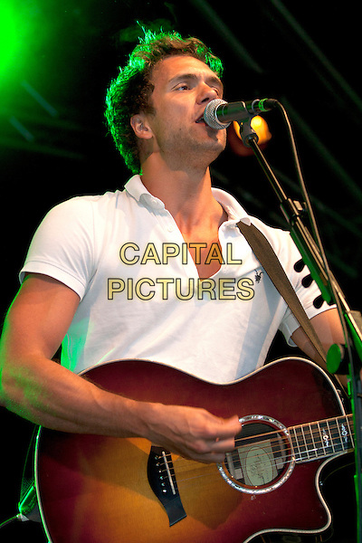 Lawson - Andy Brown.Live show to Switch on the world famous Blackpool Illuminations, Blackpool, Lancashire, England..August 31st 2012.on stage in concert live gig performing performance music half length band group guitar white top singing .CAP/AG/PP.©Amer Ghazzal/PP/Capital Pictures