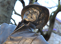 Launch of a trail of cinematic bronze statues - 'Scenes in the Square' in London's Leicester Square, celebrating the location's rich history as the home of film and marking the square's 350th anniversary. February 27th 2020<br /> <br /> Photo by Keith Mayhew