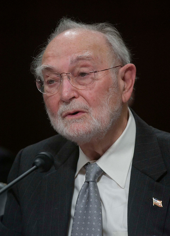 01/12/06.ALITO HEARINGS--Testifying at the Senate Judiciary hearing on behalf of Judge Samual A. Alito Jr., to be an associate justice of the U.S. Supreme Court: U.S. Court of Appeals Judge Ruggero J. Aldisert..CONGRESSIONAL QUARTERLY PHOTO BY SCOTT J. FERRELL