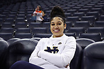 CHARLOTTESVILLE, VA - FEBRUARY 15: Notre Dame's Mychal Johnson. The University of Virginia Cavaliers hosted the University of Notre Dame Fighting Irish on February 15, 2018 at John Paul Jones Arena in Charlottesville, VA in a Division I women's college basketball game. Notre Dame won the game 83-69.