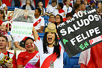 Peruanische Fans - 09.09.2018: Deutschland vs. Peru, Wirsol Arena Sinsheim, Freundschaftsspiel DISCLAIMER: DFB regulations prohibit any use of photographs as image sequences and/or quasi-video.