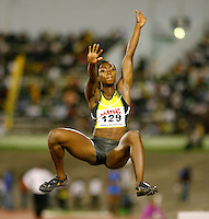 Tianna Madison had a mark of 6.21m in the long jump at the Jamaica International Invitational Meet on Saturday, May 3rd. 2008 Photo by Errol Anderson, The Sporting Image.