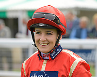 Jockey Georgia Dobie during Racing at Salisbury Racecourse on 5th September 2019