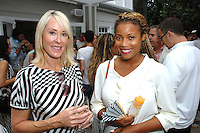 Laura Sweeney, Michelle Papillion==<br /> LAXART 5th Annual Garden Party Presented by Tory Burch==<br /> Private Residence, Beverly Hills, CA==<br /> August 3, 2014==<br /> ©LAXART==<br /> Photo: DAVID CROTTY/Laxart.com==