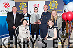 Seán Kelliher, from Fossa, Killarney was announced as the Overall Winner. Seán was presented with a specially commissioned crystal trophy and the  Overall Winner Certificate to mark his achievement by Chief Supt Pat Sulllivan andJohn O'Sullivan (GM Lee Strand)  Pictured with his family at the Lee Strand-Kerry Garda Youth Acheivement  on Friday night in Ballyroe Heights Hotel. Pictured front l-r Sheila Kelleher, Mary Kelleher, Back Brendan Kelleher, John O'Sullivan, Sean Kelleher, Pat Sullivan, Breda Kelleher