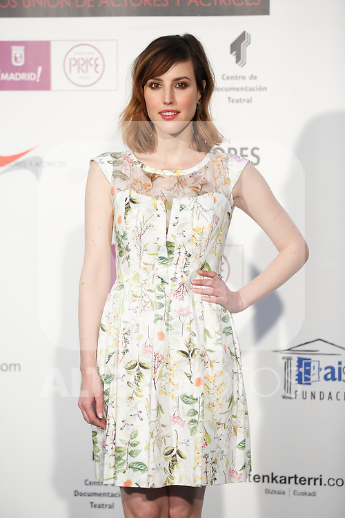 Spanish actress Natalia de Molina attends the `Union de actores Awards´ ceremony in Madrid, Spain. March 14, 2016. (ALTERPHOTOS/Victor Blanco)