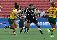 New Zealand's Raecene McGregor attacks during the women's Rugby League World Cup final between Australia and New Zealand, Suncorp Stadium, Brisbane, Australia, 2 December 2017. Copyright Image: Tertius Pickard / www.photosport.nz MANDATORY CREDIT/BYLINE : Tertius Pickard/SWpix.com/PhotosportNZ