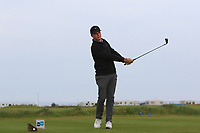Samuel Turner (ENG) on the 1st tee during Round 1of the Flogas Irish Amateur Open Championship 2019 at the Co.Sligo Golf Club, Rosses Point, Sligo, Ireland. 16/05/19<br /> <br /> Picture: Thos Caffrey / Golffile<br /> <br /> All photos usage must carry mandatory copyright credit (© Golffile | Thos Caffrey)