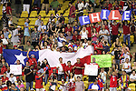 15 July 2007: Chile fans in the stands, pregame. Chile's Under-20 Men's National Team defeated Nigeria's Under-20 Men's National Team 4-0 after extra time in a  quarterfinal match at Olympic Stadium in Montreal, Quebec, Canada during the FIFA U-20 World Cup Canada 2007 tournament.