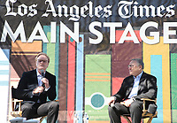 LOS ANGELES, CA -APRIL 13: Lawrence O'Donnell, Norman Pearlstine, at the 2019 Los Angeles Times Festival Of Books at University of Southern California in Los Angeles, California on April 13, 2019.    <br /> CAP/MPI/SAD<br /> &copy;SAD/MPI/Capital Pictures