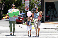 Jessica Alba took her family to a shopping at the posh kids store Bel Bambini in West Hollywood. Jessica, hubby Cash Warren, Honor and Haven were spotted leaving the boutique with balloons and a huge gift basket. Los Angeles, California on 23.06.2012..Credit: Correa/face to face.. /MediaPunch Inc. ***FOR USA ONLY*** ***Online Only for USA Weekly Print Magazines*** / Mediapunchinc NORTEPHOTO.COM<br /> **SOLO*VENTA*EN*MEXICO**<br /> **CREDITO*OBLIGATORIO** <br /> *No*Venta*A*Terceros*<br /> *No*Sale*So*third*<br /> ** No Se Permite Hacer Archivo**