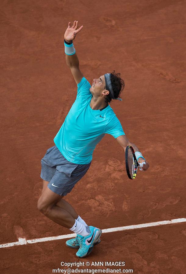 RAFAEL NADAL (ESP)<br /> <br /> Tennis - French Open 2014 -  Toland Garros - Paris -  ATP-WTA - ITF - 2014  - France -  26 May 2014. <br /> <br /> &copy; AMN IMAGES