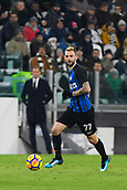 9th December 2017, Allianz Stadium, Turin, Italy; Serie A football, Juventus versus Inter Milan; Marcelo Brozovic on the ball