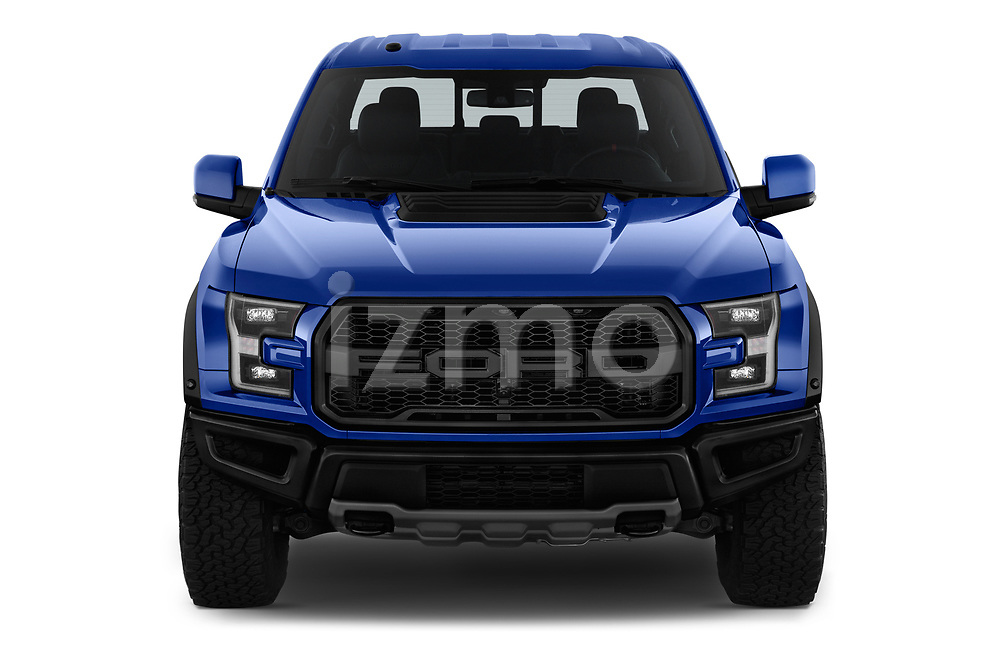 Car photography straight front view of a 2018 Ford F-150 Raptor Select Doors Door Pick Up