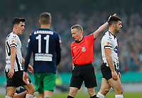 3rd November 2019; Aviva Stadium, Dublin, Leinster, Ireland; FAI Cup Final Football, Dundalk Football Club versus Shamrock Rovers; Referee Derek Tomney calls for a free kick - Editorial Use