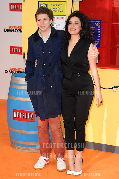 """Michael Cera and Alia Shawkat arriving for the """"Arrested Development"""", Season Four  premiere at the Vue, Leicester Square, London. 09/05/2013 Picture by: Steve Vas / Featureflash"""