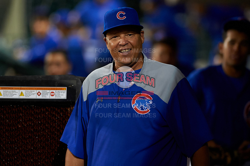AZL Cubs 1 manager Carmelo Martinez during an Arizona League game against the AZL Athletics Gold at Sloan Park on June 20, 2019 in Mesa, Arizona. AZL Athletics Gold defeated AZL Cubs 1 21-3. (Zachary Lucy/Four Seam Images)