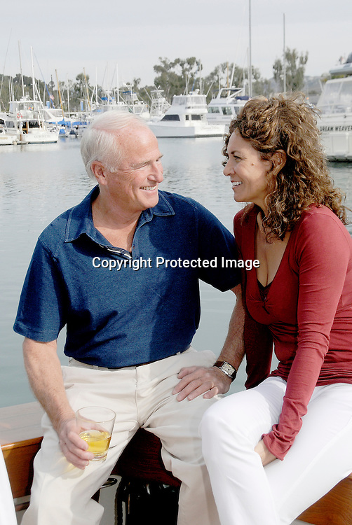 Stock Photos of Senior Mature Retired Couple Stock Photo of mature couple having a conversation on a boat.