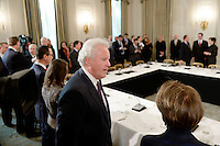 GE CEO Jeff Immelt speaks during a listening session with manufacturing CEOs  in the State Dining Room  of the White House on February 23, 2017 in Washington, DC. Photo Credit: Olivier Douliery/CNP/AdMedia