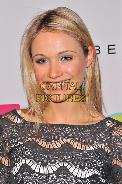 Katrina Bowden.2011 Lucky Shops VIP Charity Party, New York City, NY, USA..November 4th, 2011.headshot portrait crochet top black grey gray .CAP/ADM/CS.©Christopher Smith/AdMedia/Capital Pictures.