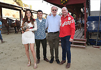 """HOLLYWOOD - JULY 28: (L-R) Co-Creator/Executive Producer/Cast Member Lake Bell and Cast Members JT Neal, Ed Begley Jr. and David Koechner attend the 20th Century Fox Television TCA Studio Day for ABC's """"Bless This Mess"""" at Sunset Ranch Hollywood on July 28, 2019 in Hollywood, California. (Photo by Frank Micelotta/20th Century Fox Television/PictureGroup)"""