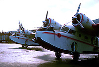 Servicing inter island sea planes.Series of images from St Thomas between 1975 -1977,USA.