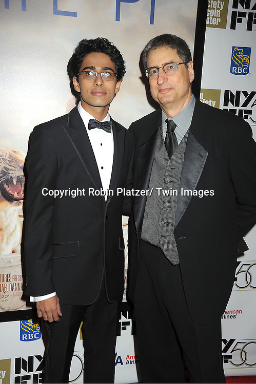 "Suraj Sharma and Tom Rothman attends the 50th Annual New York Film Festival Opening Night Gala presentation of ""Life of Pi"" starring Suraj Sharma and directored by Ang Lee on September 28, 2012 in New York City. The screening was at Alice Tully Hall at Lincoln Center."