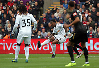 Leroy Fer of Swansea City takes a shot during the Premier League match between Swansea City and Newcastle United at The Liberty Stadium, Swansea, Wales, UK. Sunday 10 September 2017