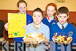 FOOD: Enjoying the food on offer at the Healthy Eating Week at Knockngree school on Friday were l-r: Claire Smith, Darren Brosnan, Sinead Horgan, Patrick Twomey.