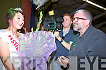 Bill Hughes of Mind the gap Films interviews the reigning 2011 Queen of Ballyheigue Niamh Tynan (Costcutters -Vera's) on Sunday night with cameraman Daniel Fleming............