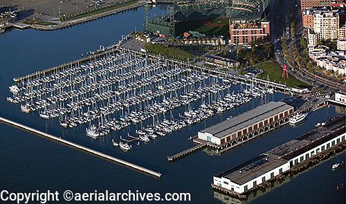 aerial photograph South Beach Marina San Francisco, California