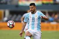 Seattle, WA - Tuesday June 14, 2016: Sergio Aguero during a Copa America Centenario Group D match between Argentina (ARG) and Bolivia (BOL) at CenturyLink Field.